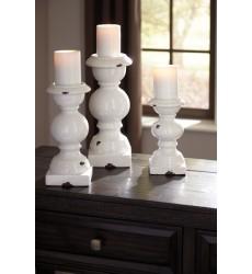 Ashley - Devorah Candle Holder Set (3/CN) - Antique White ( A2000267 )
