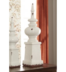 Ashley - Diem Finial - Antique White ( A2000269 )
