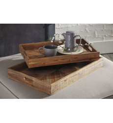 Ashley - Dewitt Tray Set (2/CN) - Brown ( A2000296 )