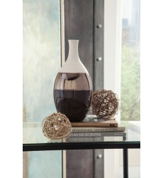 Ashley - Dericia Vase - Brown/Cream ( A2000309 )
