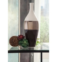 Ashley - Dericia Vase - Brown/Cream ( A2000311 )