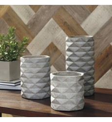 Ashley - Charlot Vase Set (3/CN) - Gray ( A2000312 )