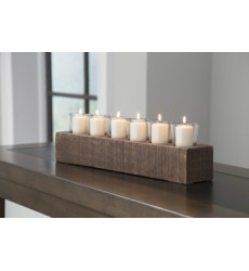 Ashley - Cassandra A2000315 Candle Holder - Brown (A2000315)