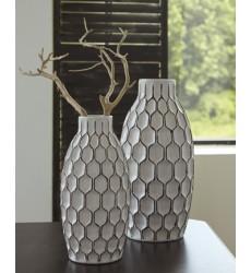 Ashley - Dionna A2000329 Vase Set (2/CN) - White (A2000329)