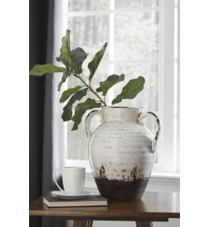 Ashley - Dion A2000330 Vase - Distressed White (A2000330)