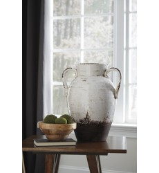 Ashley - Dion A2000331 Vase - Distressed White (A2000331)