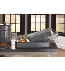 Ashley - Dido Tray Set (2/CN) - Gray/Black ( A2000345 )