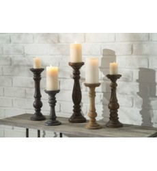 Ashley - Carston A2000368 Candle Holder Set (5/CN) - Multi (A2000368)