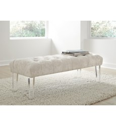Ashley - Brooklee Accent Bench - Ivory ( A3000076 )