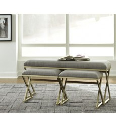 Ashley - Emanita Accent Bench Set (3/CN) - Neutral ( A3000084 )