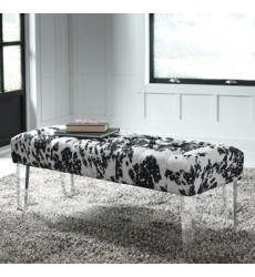 Ashley - Brooklee Accent Bench - Black/Cream/Silver ( A3000090 )