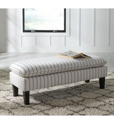 Ashley - Arrowrock Accent Bench - White/Gray ( A3000113 )
