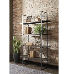 Ashley - Gilesgrove A4000017 Bookcase - Black/Gray (A4000017)