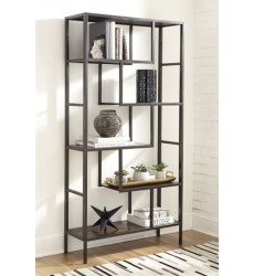 Ashley - Frankwell A4000021 Bookcase - Brown/Black (A4000021)