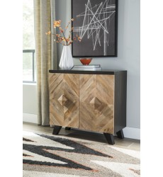 Ashley - Robin Ridge A4000030 Accent Cabinet - Two-tone Brown (A4000030)