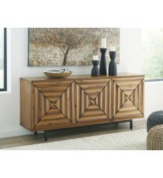 Ashley - Fair Ridge A4000032 Door Accent Cabinet - Warm Brown (A4000032)