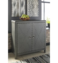 Ashley - Rock Ridge A4000033 Accent Cabinet - Gunmetal Finish (A4000033)