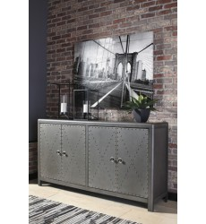 Ashley - Rock Ridge A4000034 Accent Cabinet - Gunmetal Finish (A4000034)