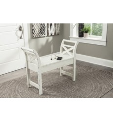 Ashley - Heron Ridge Accent Bench - White ( A4000036 )