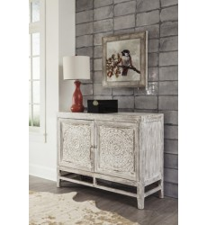Ashley - Fossil Ridge Door Accent Cabinet - Light Brown ( A4000038 )