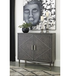 Ashley - Aidanburg A4000057 Accent Cabinet - Antique Black (A4000057)