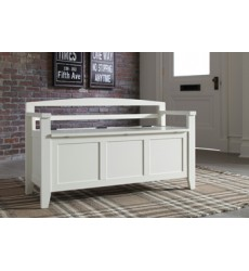 Ashley - Charvanna A4000058 Storage Bench - White (A4000058)