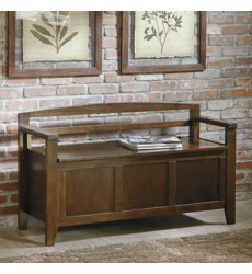 Ashley - Charvanna A4000059 Storage Bench - Dark Brown (A4000059)