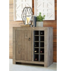 Ashley - Forestmin Wine Cabinet - Gray ( A4000063 )