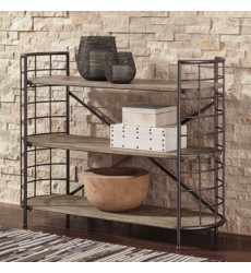 Ashley - Flintley A4000075 Bookcase - Brown/Gunmetal (A4000075)