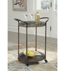 Ashley - Clarkburn A4000100 Bar Cart - Bronze Finish (A4000100)