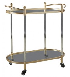 Ashley - Cordland A4000103 Bar Cart - Clear/Gold Finish (A4000103)