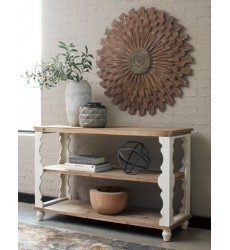 Ashley - Alwyndale A4000107 Console Sofa Table - Antique White/Brown (A4000107)
