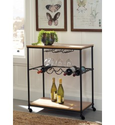 Ashley - Jadonport A4000119 Bar Cart - Brown/Black (A4000119)