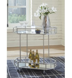 Ashley - Kadinburg A4000120 Bar Cart - Silver Finish (A4000120)