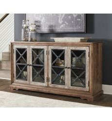 Ashley - Ellisburg A4000131 Accent Cabinet - Antique Brown (A4000131)