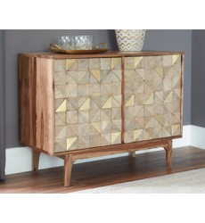 Ashley - Carolmore Accent Cabinet - Brown/Gold ( A4000169 )