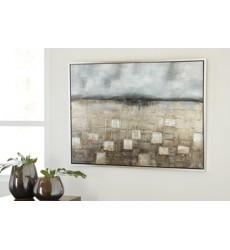 Ashley - Dzigbode A8000121 Wall Art - Blue/Silver Finish (A8000121)