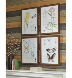 Ashley - Carlisia A8000255 Wall Art Set (4/CN) - Multi (A8000255)