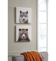 Ashley - Albert Wall Art Set (2/CN) - Gray/Brown ( A8000261 )