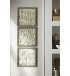 Ashley - Odella A8010009 Wall Decor Set (3/CN) - Cream/Taupe (A8010009)