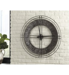 Ashley - Ana Sofia Wall Clock - Antique Gray ( A8010068 )