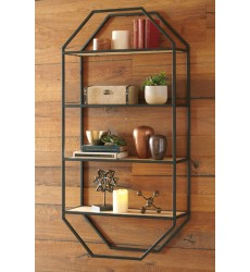 Ashley - Elea A8010097 Wall Shelf - Black/Natural (A8010097)