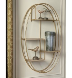 Ashley - Elettra A8010106 Wall Shelf - Natural/Gold Finish (A8010106)
