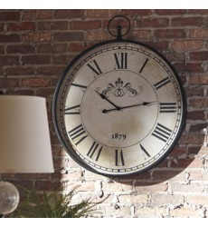 Ashley - Augustina A8010110 Wall Clock - Antique Black (A8010110)