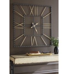 Ashley - Thames A8010112 Wall Clock - Black/Gold Finish (A8010112)
