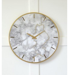 Ashley - Jazmin A8010130 Wall Clock - Gray/Gold Finish (A8010130)