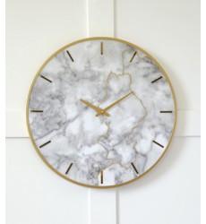 Ashley - Jazmin Wall Clock - Gray/Gold Finish ( A8010130 )