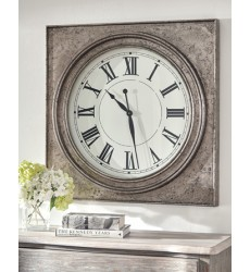 Ashley - Pelham A8010132 Wall Clock - Antique Silver Finish (A8010132)