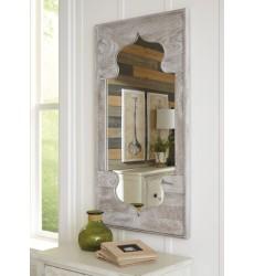 Ashley - Bautista A8010156 Accent Mirror - Antique Gray (A8010156)