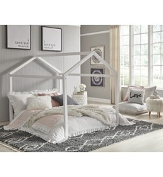 Ashley - Flannibrook  B082 Full House Bed Frame - Black/White(B082-262)